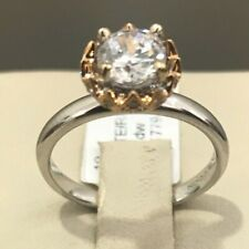 Tycoon Brand New 18K White Gold with Rose Gold Engagement Ring