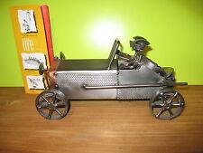 HINZ & KUNST *NEW* Sujet en fer Voiture Bugatti H.14,5cm L.26cm