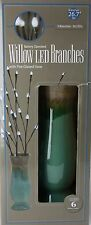 """Battery Operated 26.7"""" Tall Willow LED Branches with Fire Glazed Vase NIB"""