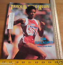 Track and Field News Dec 1988 Kim Gallagher cover Reebok shoes
