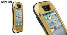 Love Mei Metallgehäuse für iPhone 4 4S spritz Wasserdicht Stabiles Schutz Gold
