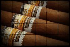 24x16 COHIBA Still Life Tumbled Marble Tiles for Cigar House, Bars, Restaurants