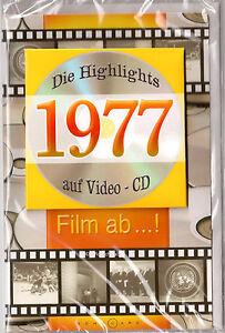 Geburtstagskarte Die Highlights von 1977! Mit Video-CD Jahreschronik, NEU + OVP!