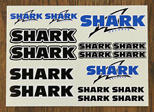 SHARK HELMET STICKER SETS - SHEET OF 16 STICKERS - DECALS - Printed & Laminated