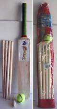 Kids Wooden Cricket Set Size 3 Bat Wickets Beil Ball Stumps Sport Toys New Xmas