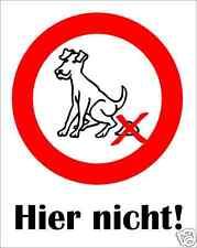 hundeverbot kackender chien plastique witterungsb