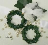 2 Serviettenringe Ringe Serviette grün Hochzeit Kerzenringe Tischdeko Buchsbaum