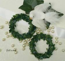 10 Serviettenringe Ringe Serviette grün Hochzeit Kerzenringe Tischdeko Buchsbaum