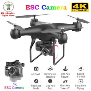 RC Drone 4K Camera Quadcopter UAV with Professional Wide-Angle Aerial Photograpy