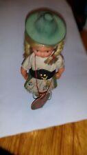 alte antike Trachten Puppe Sammler Tiroler oder Bayer Dindl Hut ca. 17 cm