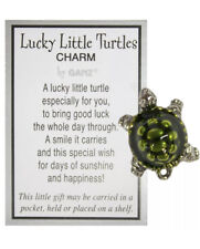 Qp Lucky Little Turtle wish box charm figurine Ganz good luck holds wishes