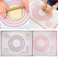 No-Stick Silicone Dough Paste Rolling Baking Mat Fondant Pastry Clay Pad Kitchen