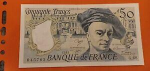 billet 50 francs Quentin de la Tour 1991 pratiquement. Neuf