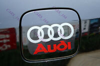 Amazing Car Fuel Gas Tank Cap Stickers Adhesive Graphic Decal For Audi (White)