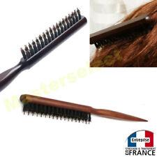 Brosse à cheveux avec poils de sanglier compact et facile à transporter en bois