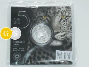 1 Ounce fine Silver Big Five Leopard South Africa 2020 Blister silber Südafrika