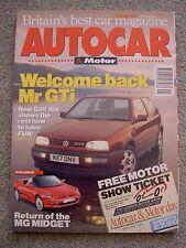 Autocar (13 Oct 1993) Golf GTi v Astra, Tipo, Lexus GS300, BMW 325tds, Mercedes