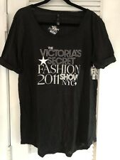 Victoria's Secret Fashion 2011 Show Tee Shirt - Black & Sequins - New with Tags
