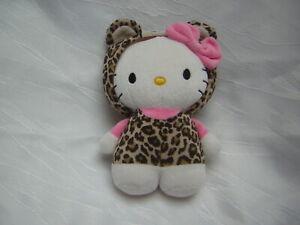 H&M/ SANRIO Stofftier KATZE HELLO KITTY Leopard Kostüm braun Kapuze + Schleife