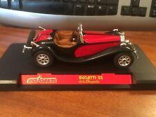 Majorette Club 1/24 Scale 4101 Bugatti 55 delaChapelle - Red/Black - Boxed