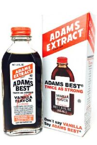 Adams Extracts Maple, Pound Cake, Pure Peppemint, Root Beer, Vanilla (2X Strong)