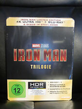 Iron Man Trilogy 1-3 4K UHD + Blu-Ray Steelbook [Germany] Region Free Sealed New