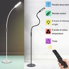 10W Modern LED Floor Standard Lamp Reading Light Flexible Timer Remote Control
