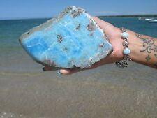 LARIMAR AAA Blue Natural Rare Specimens Huge 1310 Grams High polish