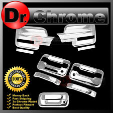09-14 Ford F150 Chrome Mirror+2 Door Handle+keypad+PSG keyhole+Tailgate Cover