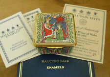 """Boxed Ltd Ed Halcyon Days The First Prince of Wales Enamel Box - <2 1/8"""""""