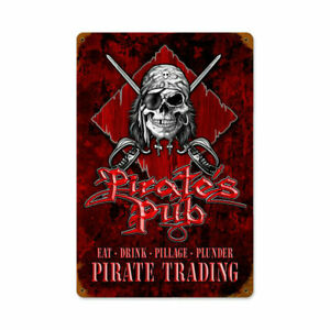 VINTAGE SIGN Pirates Pub 12 x 18
