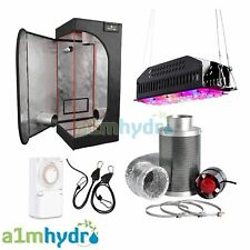 Complete LED Grow Light Tent Kit Set Up - 60cm x 60cm x 140cm