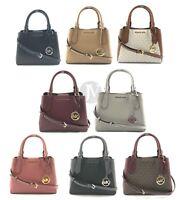 Michael Kors  Kimberly Small Leather Satchel Crossbody Handbag