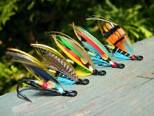 Assortment of Atlantic Salmon wet flies/ Double hook size #4 / Quantity of 5