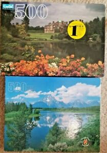 Two 500pc Scenery Puzzles 18 x 14 Pre-Owned - Norfolk, England & Grand Teton NP