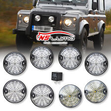 LAND ROVER REAR TAIL LIGHT LAMP CLEAR LENS UPGRADE KIT DEFENDER GL1143SM WIPAC