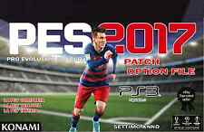 AGGIORNAMENTO PATCH Pro Evolution Soccer PES 2017 PS3 Option File