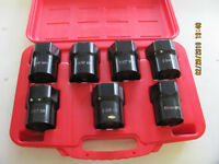 "7pc 1/2"" Dr. Wheel Bearing Locknut Socket Set  NEW"