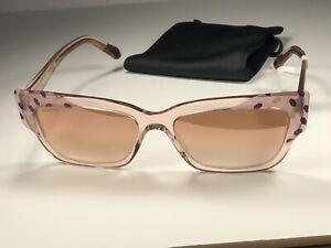 Nice! Bvlgari BV 8219 Pink Geometric Sunglasses 5462/6F W/Rose Gold Lens