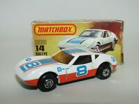 Matchbox Superfast No 14 Rallye Royale AMBER GLASS Lesney Hong Kong NMIB RARE