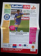 Orig.PRG   Europa League  2009/10    SIGMA OLOMOUC - ABERDEEN FC  !!  SELTEN