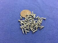 45 pieces 2x8mm Silver Miniature Hardware Parts Pack Small wood Screws hinge c2