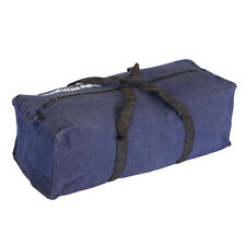 Blue Canvas Tool Bag - Strong Heavy Duty - 460 x 180 x 130mm - Silverline - Zip