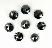 Natural Loose Diamonds Round Rose Cut Black I3 Clarity 1 Pcs Scoop 6.00 MM J7-7