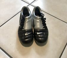 NIKE T90 TOTAL 90 III FG FOOTBALL BOOTS GREY SILVER JUNIORS UK11