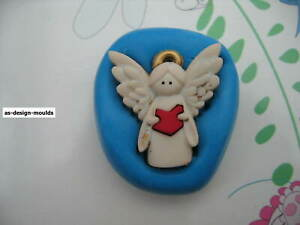 Cute Christmas Angel #3 Silicone Mould/Mold Sugar Craft, Cupcake Toppers