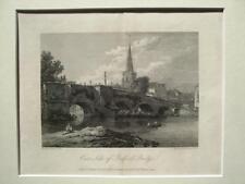 East Side of Bedford Bridge  (published January 1, 1803) - original engraving