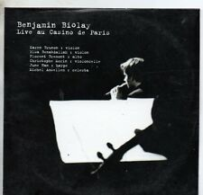 CD SINGLE Benjamin BIOLAYLive au Casino de Paris Mars 2002 7-Track CARD SLEEVE