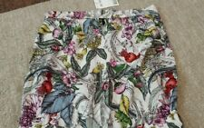 New Next  White Multi-Coloured Floral Bandeau Jumpsuit Size UK 8 tall