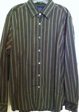 indigo palms tommy bahama shirt mens xl long sleeve green striped